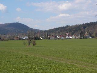 Lückendorf Blick zum Hochwald